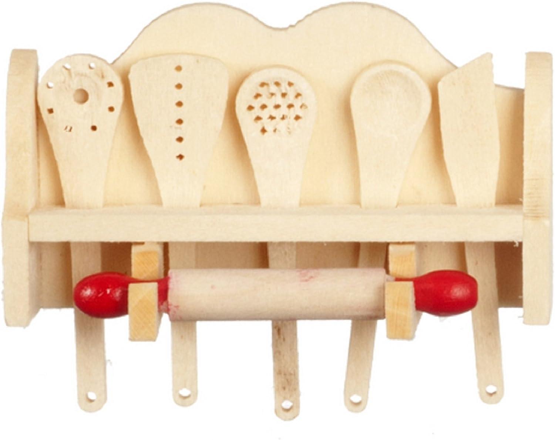 Dollhouse Miniature 1 12 Scale Kitchen Utensils in Rack  G8151