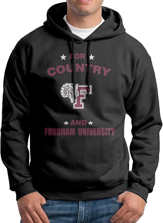 RebeccaP Men's for Country and Fordham University Fashion Hoodie Sweatshirt Black