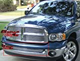 APS Compatible with 2002-2008 Dodge Ram 1500 & 02-09 Ram 2500 3500 Without Tow Hook Lower Bumper Aluminum Chrome Horizontal Billet Grille Insert S18-A57356D