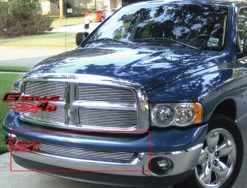 APS Premium Aluminum Chrome Horizontal Billet Grille Compatible with 2002-2008 Dodge Ram 1500 & 02-09 Ram 2500 3500 Without Tow Hook Lower Bumper N19-A57356D