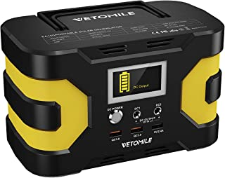 VETOMILE 200W Peak Solar Generator, 45000mAh Portable Power Station with Pure Sine Wave 110V AC Outlet 3 USB Ports, 2 DC Ports 150W Rated Power Supply Pack for CPAP Outdoor Camping Backup