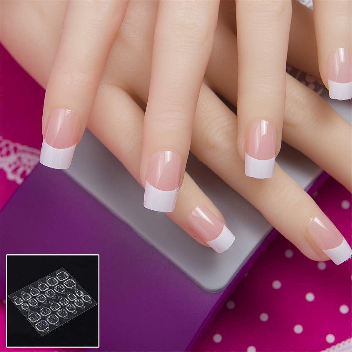 24Pcs In 1 Box With Nail Adhesive Glue Tape Press On Nail Tips Full Cover False Nail Tips Square Fake Nail Tips K5