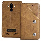 YLYT Shockproof - Brown Flip Leather TPU Silicone Retro