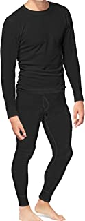 Place and Street Men's Cotton Thermal Underwear Set Shirt Pants Long Johns Fleece Lined