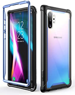 i-Blason Ares Clear Case for Galaxy Note 10 Plus/Note 10 Plus 5G 2019 Release, Dual Layer Rugged Clear Bumper Case Without Built-in Screen Protector (Blue)