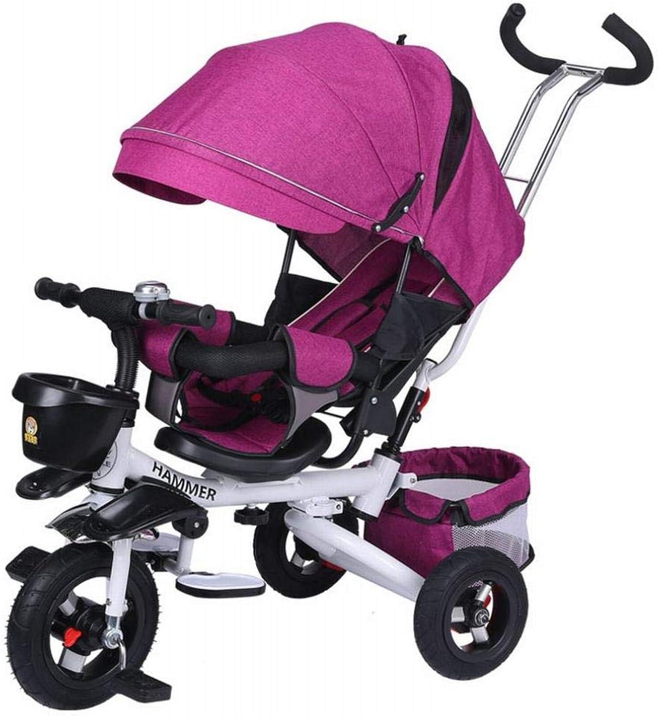 ZN Mehrfunktionales Faltendes Babykind-Dreirad, Das Kinderwagen-Fahrradfahrrad Stützt