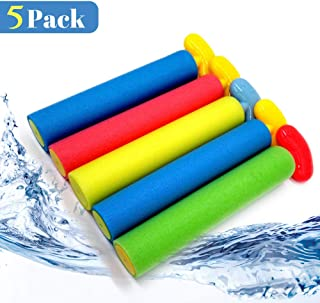 Pool Toys Water Guns for kids and Adults, 5 Pack Noodle Squirt Guns with Long Range up to 30ft, Foam Water Blasters Perfect for Summer Outdoor Beach, Strong Stream Water Shooters for Kids Boys Girls