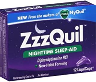 ZzzQuil Nighttime Sleep-Aid, LiquiCaps 12 ea (Pack of 3)