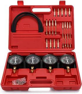 KKmoon Kit de ferramentas de sincronização de carburador e ajuste, conjunto de sincronizador de carburador a vácuo de comb...