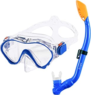 Kids Snorkel Set Dry Top Snorkel Mask with Carrying Bag Kids Youth Junior Snorkeling Gear for Boys and Girls Age from 5-13...