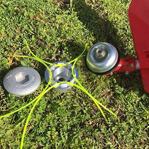 Bewinner Universal Aluminium Strimmer Head Trimmer Heads String Set Grass Brush Cutter Accessory Fit for Most Lawn Mower