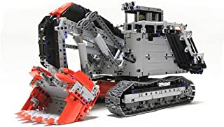 YDYL-LI 4062 PCS Excavator Rc Car Terex RH400 Mining Motor Building Block RC Car Kit, MOC-1874 Model Building Blocks Compatible with Lego, Bricks Toy for Adult Or Kid,Static Version