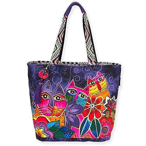 Laurel Burch Women Handbag, Crossbody, Tote (Shoulder Tote, Laurel's Garden)