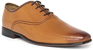 NOBLE CURVE Tan Leather Oxford Shoes