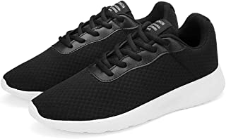 AUCDK Men Casual Plate Shoes White Size 47 Men Mesh Trainer Lightweight Sports Running Shoes Breathable Sneakers