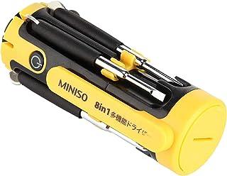 مفك براغي متعدد الاستخدامات 8 في 1 مزود باربعة مصابيح من مينيسو