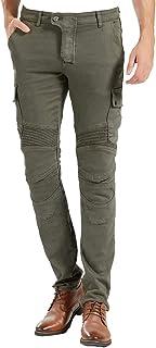 Men Motorcycle Motorbike Biker Riding Jeans Kevlar With Upgrade CE Knee Hip Pads (M=30)