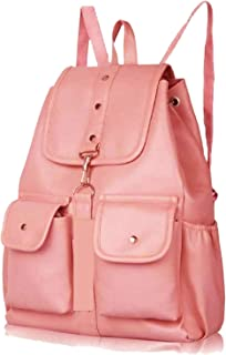 PAGWIN® PU Leather Student Backpack School Bag for Girls Travel Bag Collage Trendy Latest Stylish Girl Shoulder Backpack (...