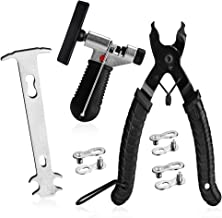 A AKRAF Bike Link Plier + Chain Breaker Splitter Tool + Chain Checker + 3 Pairs Bicycle Missing Links, Bike Link Opener Cl...