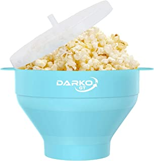 The Original Silicone Microwave Popcorn Popper with Handles and Lid - Silicone Popcorn Maker - Collapsible Bowl BPA Free a...