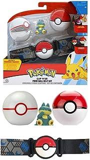 WCT - 97775 - Cinturón con Soporte de Bola Clip 'n' Go de Pokemon con Figura MUNCHLAX de 4 cm y 2 Pokeball Blanca y Roja Original Oficial Wave 4