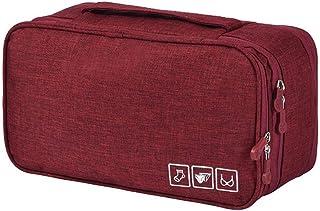 حقيبة تخزين ملابس السفر من أكادي منظم جوارب مستحضرات التجميل الملابس الداخلية النبيذ الأحمر