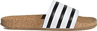 adidas Women's Adilette Cork White/Black Slides BA7210