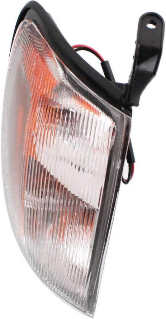 For Nissan Frontier Corner Light 1998 1999 2000 Driver Side NI2520124 261257Z425 Clear /& Amber Lens