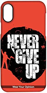 Macmerise IPCIPXPWY1448 Never give up - Pro Case for iPhone X - Multicolor (Pack of1)