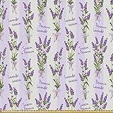 ABAKUHAUS Lavendel Stoff als Meterware, Streifen und