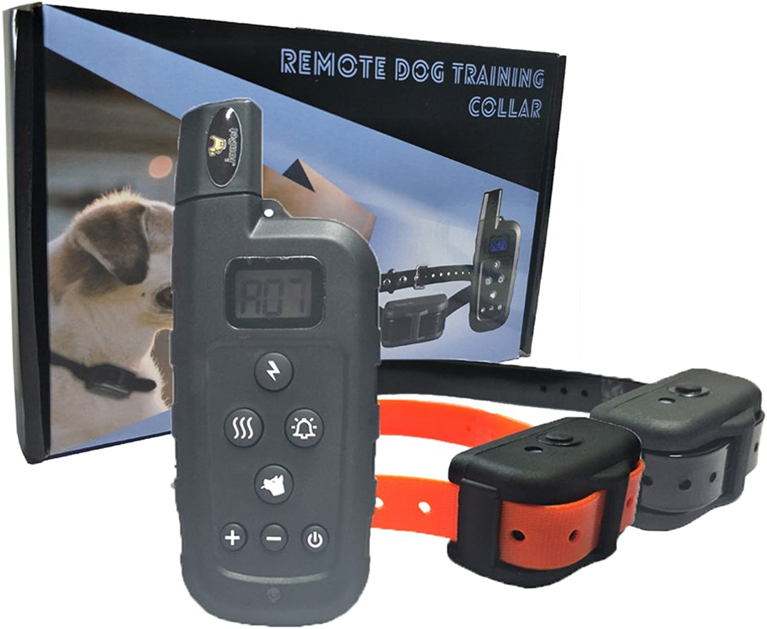 Electronic Collars Dog Training with Remote, 100% Waterproof Rechargeable Shock Collar for 2 Dogs, Range 600 Yards