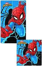 17/% Polyester Blau Badetuch 83/% Baumwolle 140 cm x 70 cm Marvel Spiderman Strandtuch f/ür Kinder