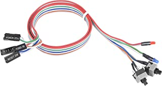 uxcell 2 PIN Power Cable with 2 LED Red and Blue, 2 Switch for ATX Computer 55cm 2pcs