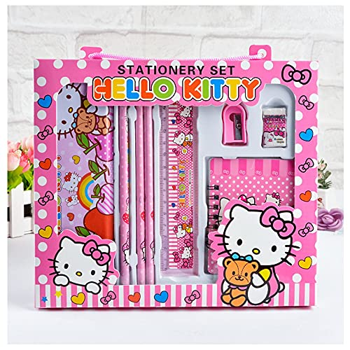 Set De Papelería Estuche Papelería Papelería Set De Papelería para Niñas Regalos De Kit Material Escolar Set Papelería Infantil (Color : A Pink)