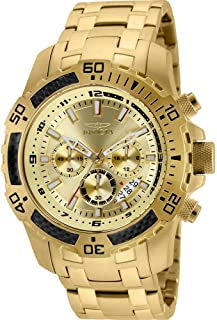 Invicta Men's Pro Diver Quartz Diving Watch with Stainless-Steel Strap, Silver, 26 (Model: 24860)