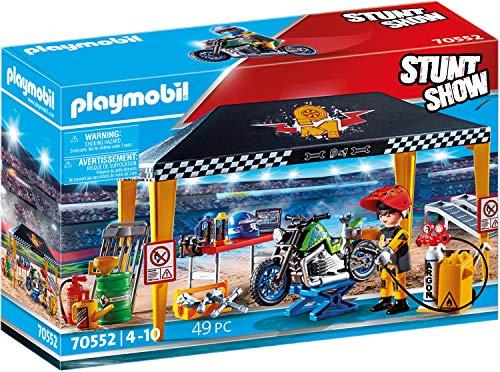 PLAYMOBIL Stuntshow Tienda Taller, para niños de 4 a 10 años