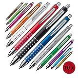 Kugelschreiber mit glitzernder Griffzone im 10er Set