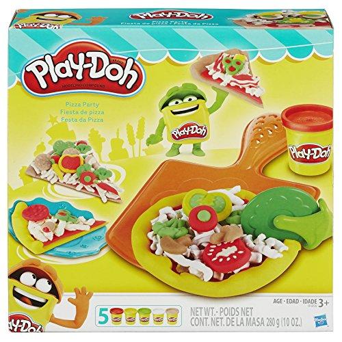 Conjunto De Massinha Play-doh Festa Da Pizza Com 5 Potes Play-doh Multicor