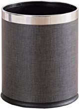 JXXDDQ Double Dust Container Leather Lid Living Room Without Lid Kitchen (Color : Dark Gray)