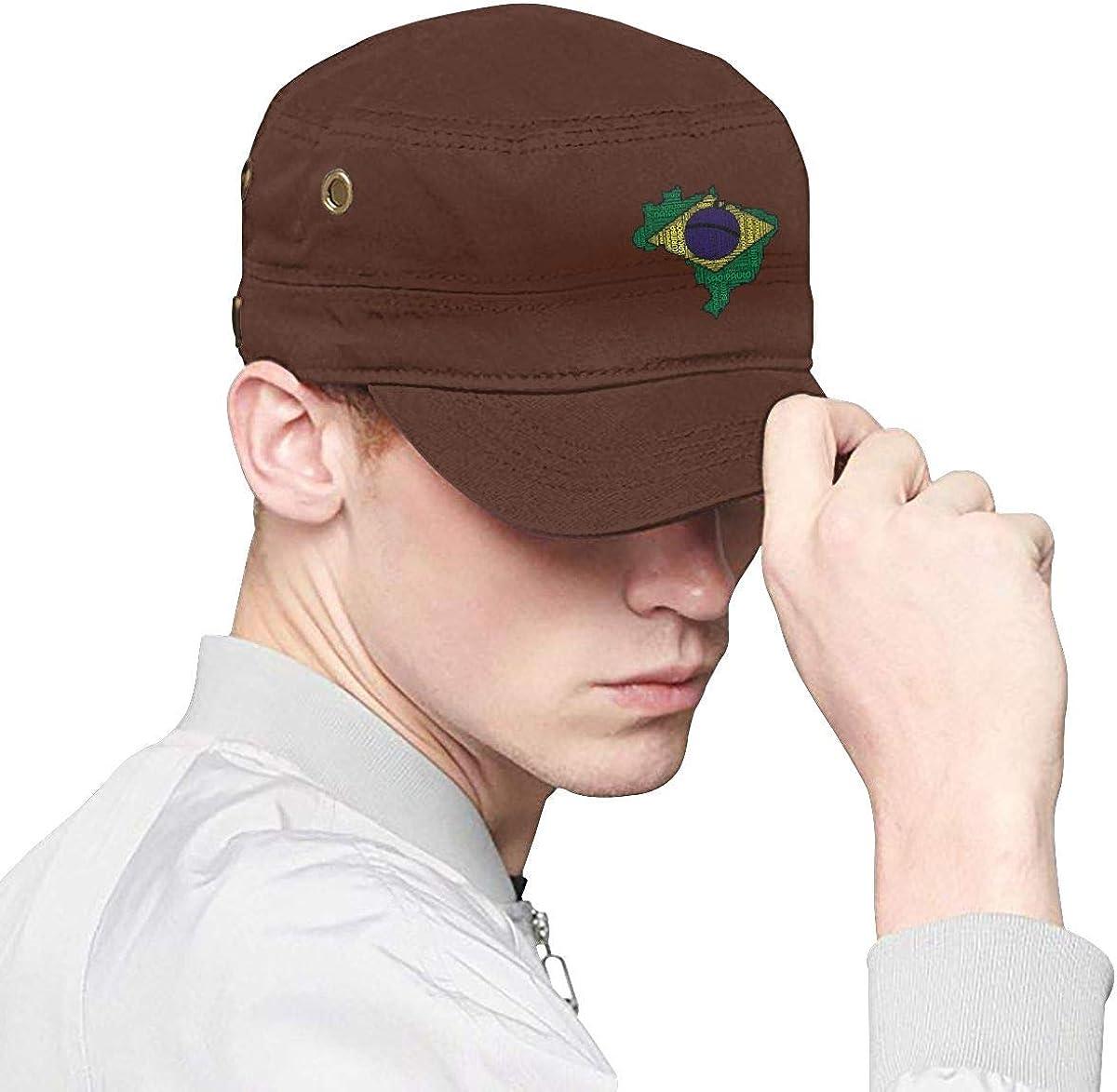 Love Brazil Brazilian Flag Unisex Adjustable Snapback Hat Casual Baseball Caps Dad Hat