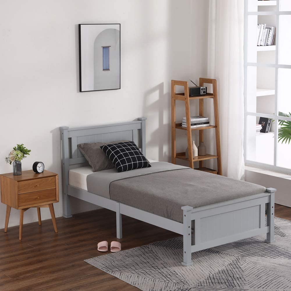 Vertical Decorative Core Tucson Mall Mail order cheap Solid Wood 42.2 Twin-Size Twin INC Bed