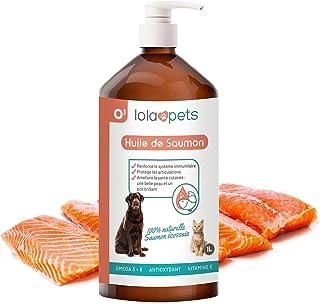 O³ Huile de Saumon pour Chien et Chat – 1 Litre, 100% Naturelle - Pressé à Froid - Riche en Omega 3+6+9 et Vitamine E | Sa...