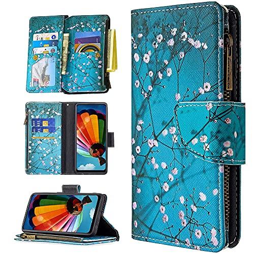 QC-EMART Cover Portafoglio per Realme 8 5G Custodia in Pelle Libro Magnetica Flip Porta Carte di...