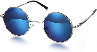 Aroncent Gafa de Sol Polarizada Retra contra UV400 Lente Redonda de Resina Protección de Ojos para Carreras, Viaje, Conduc...