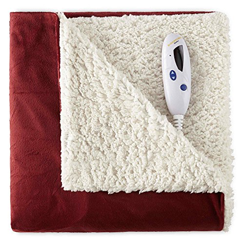 Biddeford Blankets Micro Mink and Sherpa Electric Heated...