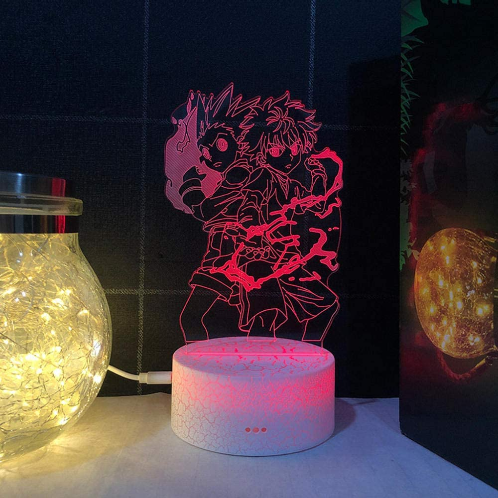 Beautiful Gift for Kids Acrylic 3D Attack Anime Light Max 87% OFF 1 year warranty Night Led
