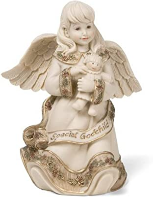 Sarah's Angels Tapestry Series Special Godchild Angel Figurine, 4-1/2 Inch