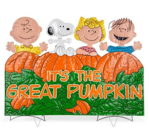 It's The Great Pumpkin Charlie Brown Metal Outdoor Halloween Decoration
