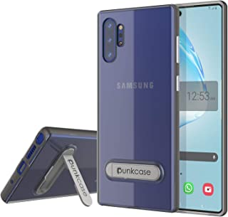 Galaxy Note 10 Plus Case, PUNKcase [Lucid 3.0 Series] [Slim Fit] [Clear Back] Armor Cover W/Integrated Kickstand & PUNKSHIELD Screen Protector Compatible W/Samsung Galaxy Note 10+ Plus [Grey]