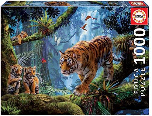 Educa 17662 1000 Tiger Auf Dem Baum